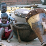 Children with drums