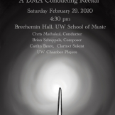 Chris Mathakul DMA recital poster