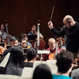 David Alexander Rahbee conducts the UW Symphony Orchestra (Photo: Steve Korn)