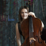Faculty cellist Saeunn Thorsteinsdottir performs at the Jones Playhouse Oct. 19 (Photo courtesy the artist).