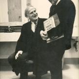 Maestro Erös with violinist/conductor Yehudi Menuhin,  San Diego, 1979.