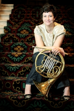 Denise Tyron, fourth horn of the Philadelphia Orchestra, leads a master class at UW Nov. 16.