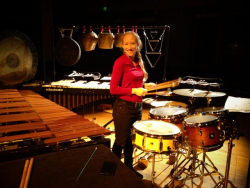 Bonnie Whiting with instruments
