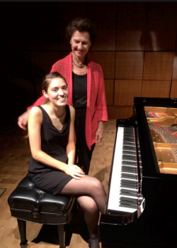 School of Music student Flannery Youngblood and Professor Robin McCabe (Photo: courtesy Robin McCabe).
