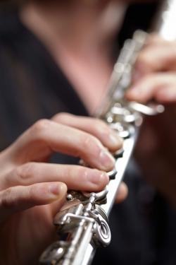 Flute student closeup