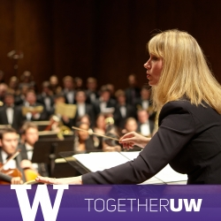 Giselle Wyers conducts the University Chorale.