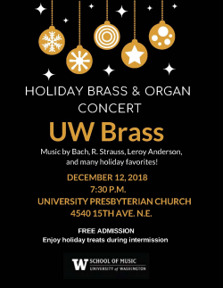 Holiday Brass Concert poster image