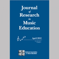 Journal of Research in Music Education volume 60