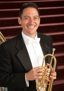 Justin Emerich, trumpet, leads a master class at the UW on Nov. 18.