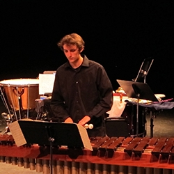 Student in the Percussion Ensemble