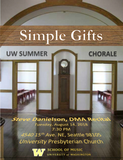 Steve Danielson DMA recital poster image