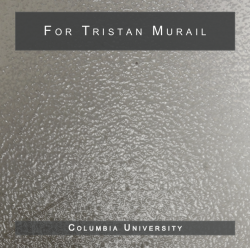 For Tristan Murail cd booklet cover