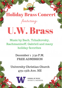 Poster image for holiday brass concert