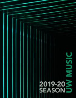 UW Music 2019-20 Concert Season brochure cover
