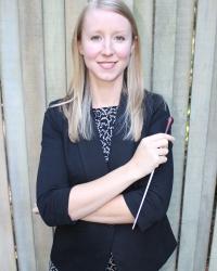 Graduate wind conducting student Sarah Bost.