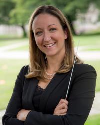 Graduate wind conducting student Shayna Stahl (Photo: courtesy Shayna Stahl).