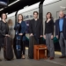 UW performance faculty at light rail station