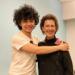 Robin McCabe with UW Music alum Zeze Xue