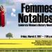 Femmes Notables concert flyer