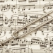 Tuning Fork on Sheet Music