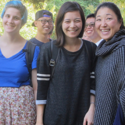 UW flute students with Prof. Donna Shin (far right).