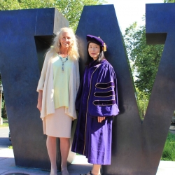 Prof. Patricia Campbell with PhD graduate Michiko Urita.