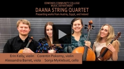 Vimeo link to Daana String Quartet, April 27, 2015, Edmonds Community College, Blackbox Theater