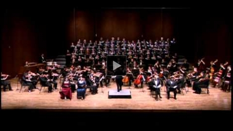 "YouTube link to The UW Chorale and Chamber Singers perform Mendelssohn's Elijah ""Yet doth the Lord"""